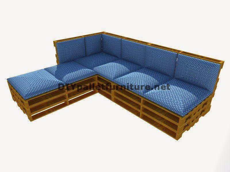 Muebles de palets: Guía paso a paso para hacer fácilmente un sofá ...