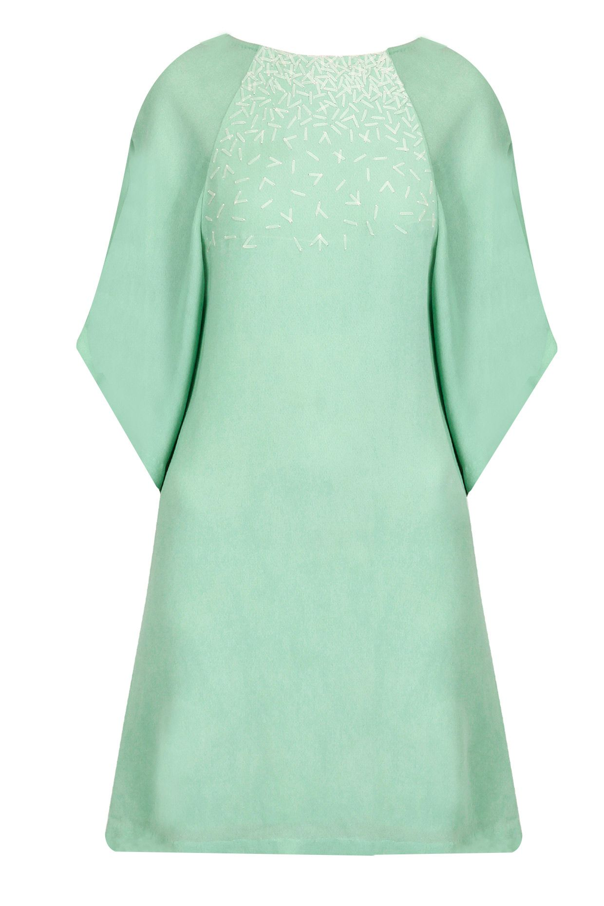 Urban green sequins embellished short dress available only at
