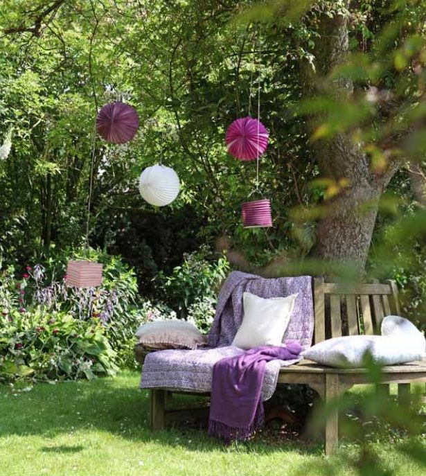 summer decorating ideas make paper lanterns garden trees decor