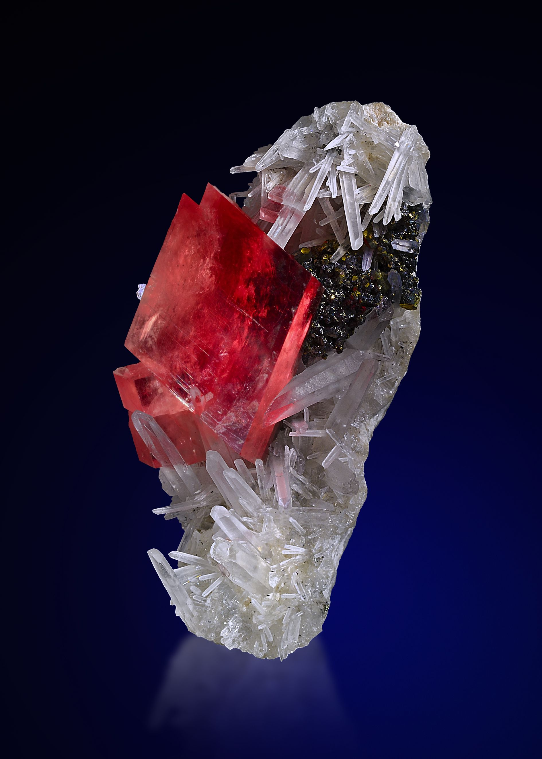 Rhodochrosite and Quartz -  Sweet Home Mine, Mount Bross, Alma District, Park Co., Colorado, USA