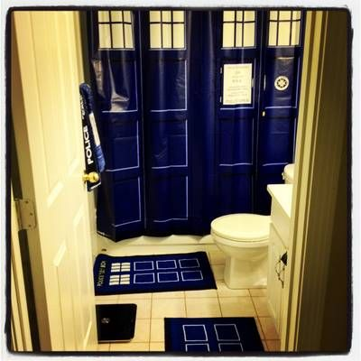 30 Doctor Who TARDIS Shower Curtain Customer Shot Price Is For Only