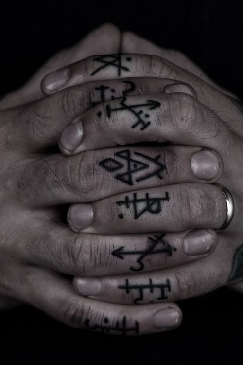 Occult Symbol Black Dark Thomashooper Nyc Finger Minimal