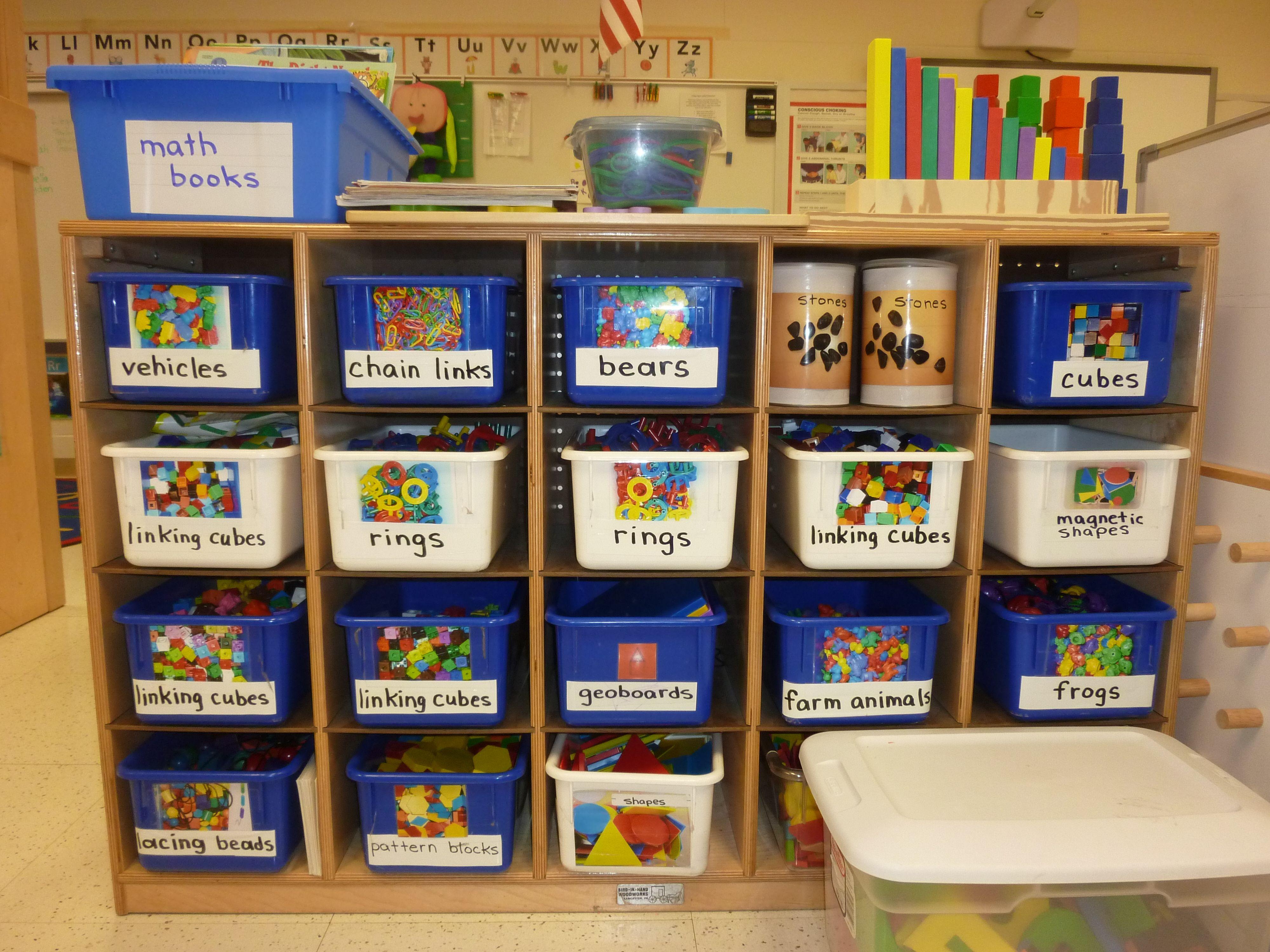 Centers for ECERS Preschool, Preschool centers, Math books