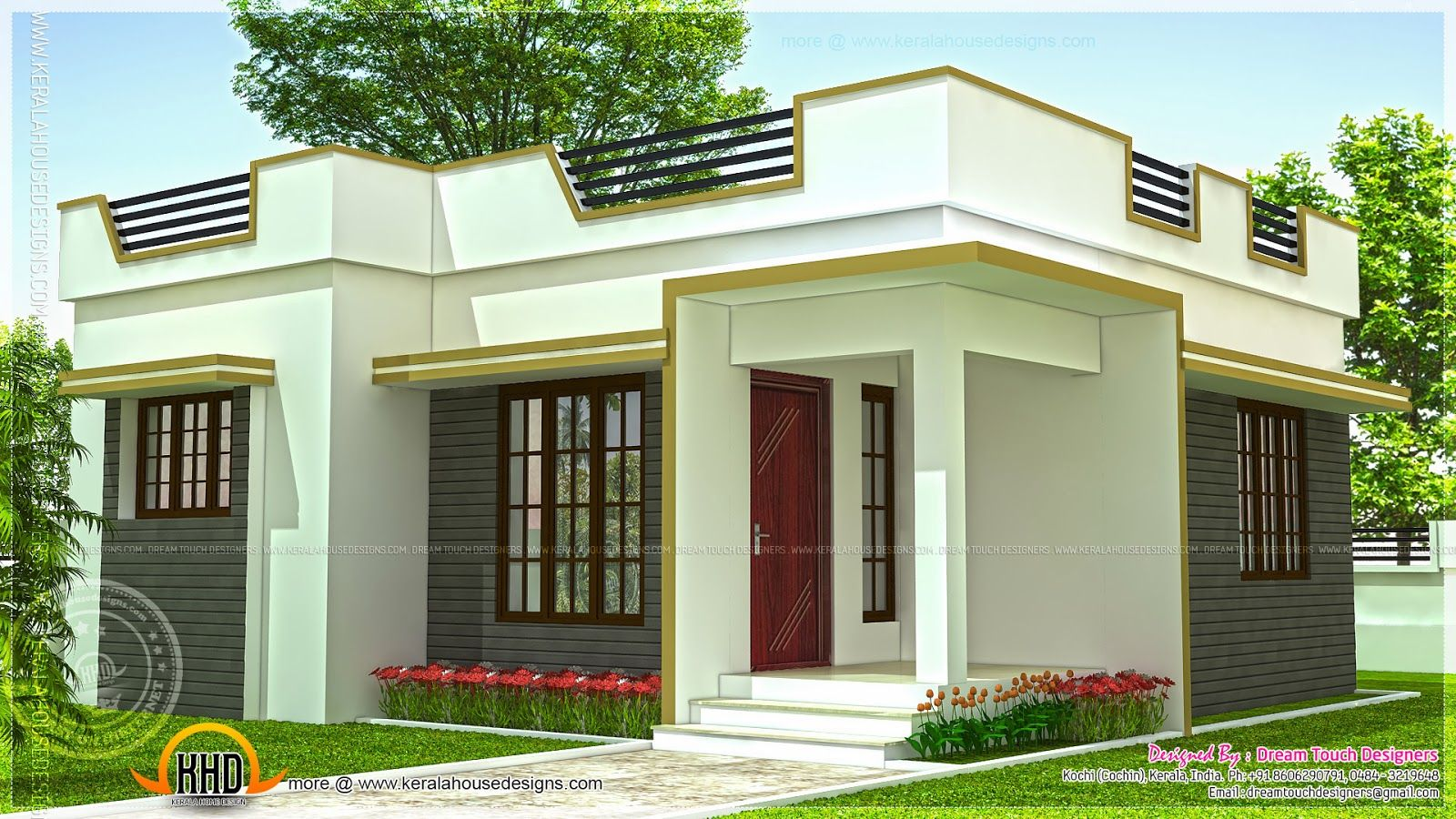 Lately 21 small house design kerala small house for Front design of small house