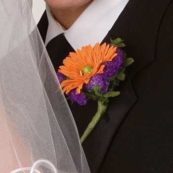 Bold Colors Boutonniere Roorbach Flowers Manitowoc Wisconsin