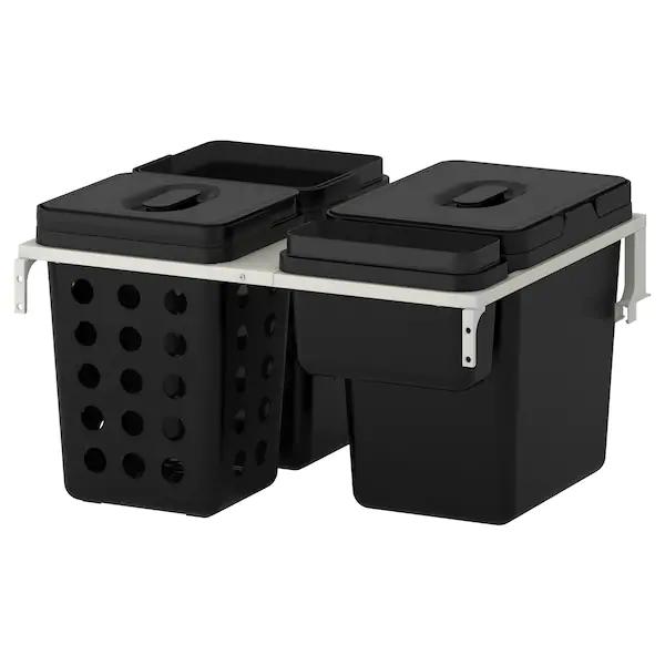 Variera Utrusta Sistema De Reciclado Para Armario Ikea Poubelle Tri Interieur De Cuisine Ikea Poubelle