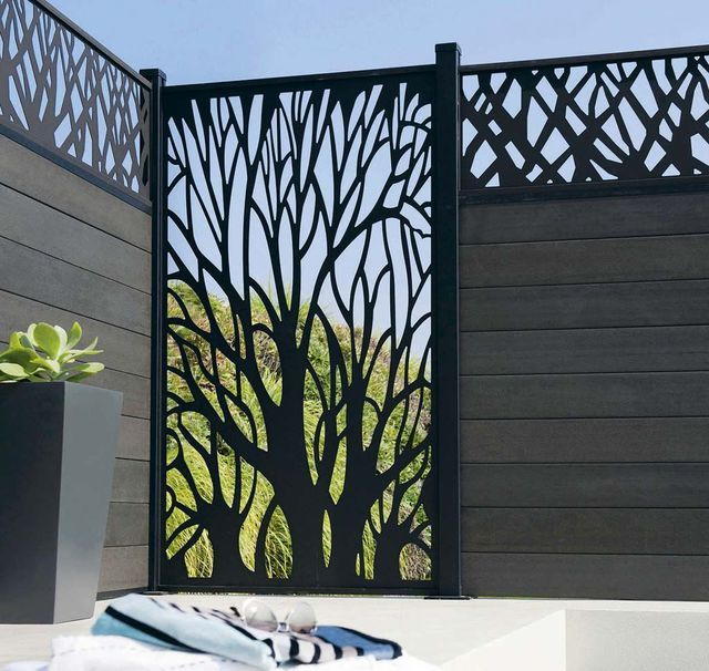 jardin terrasse panneaux brise vue pour se cacher des voisins deco pinterest voisin. Black Bedroom Furniture Sets. Home Design Ideas