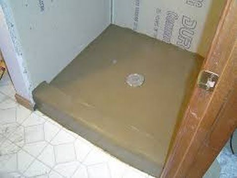 How To Install Shower Pan And Float Floor Mud Bed Part