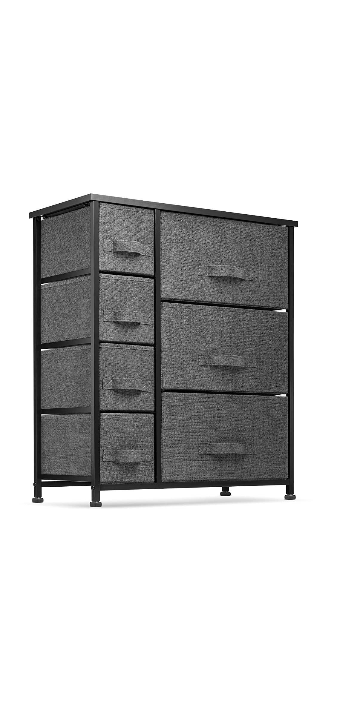 Black Bedroom Furniture 7 Drawers Dresser Furniture Storage Tower Unit Black Bedroom Furniture In 2020