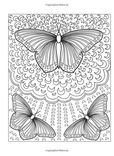 Beautiful Butterfly Designs Creative Haven Dover Coloring Book