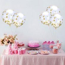 Festive Transparent Air Balloons Confetti (5Pcs)