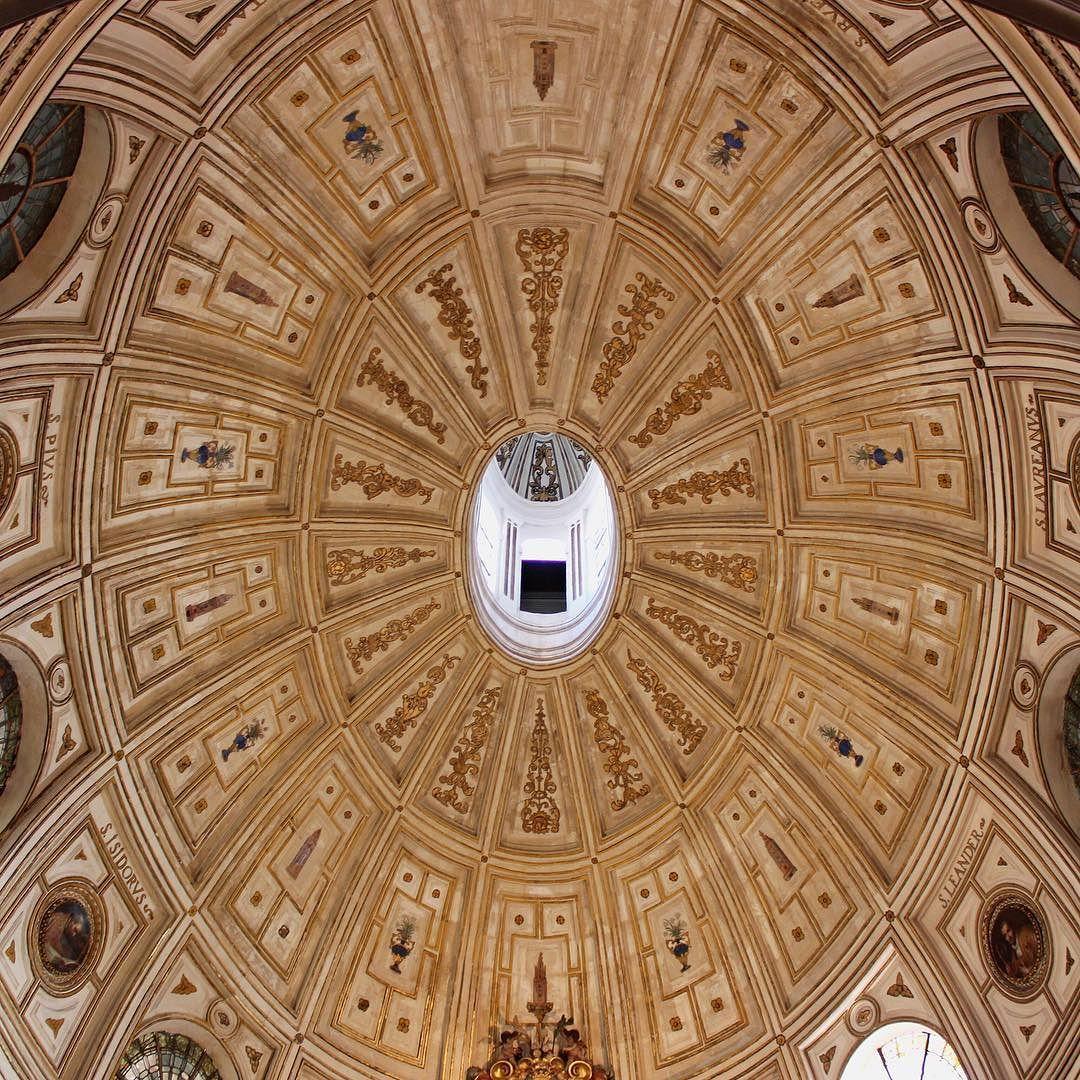 Interior of the dome of La Sacristía Mayor. Sevilla's cathedral Andalucía Spain.