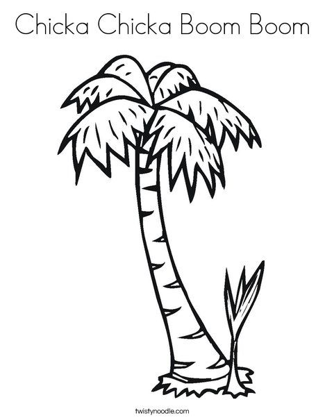 Chicka Chicka Boom Boom Coloring Page Twisty Noodle Chicka