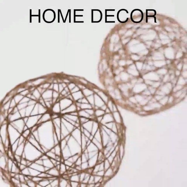 Diy Twine Orbs What You Need Natural Twine Punching Ball
