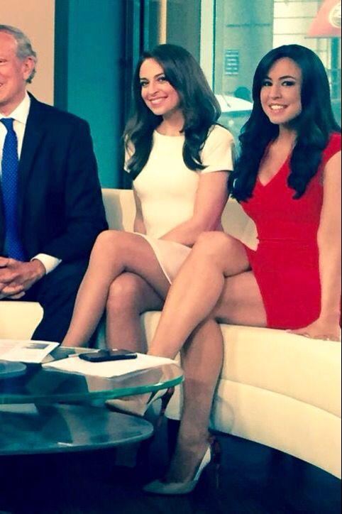 Jedediah Bila & Andrea Tantaros - great legs on Fox News ...