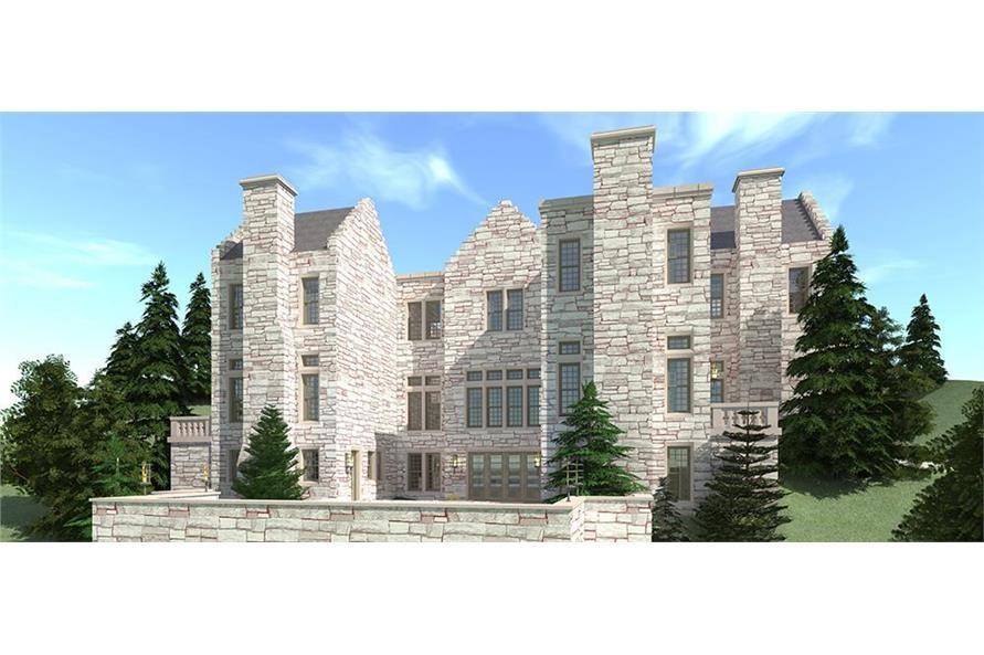 Castle House Plan 6 Bedrms 6 Baths 9465 Sq Ft 116 1108 Castle House Plans Castle Plans Castle Designs