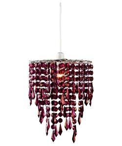 Beaded Light Shade Blackcurrant With
