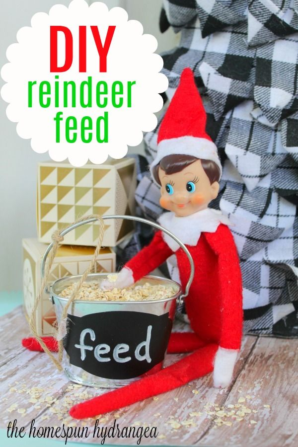 Homemade Farmhouse Christmas Reindeer Food Recipe - The Homespun Hydrangea #reindeerfoodrecipe