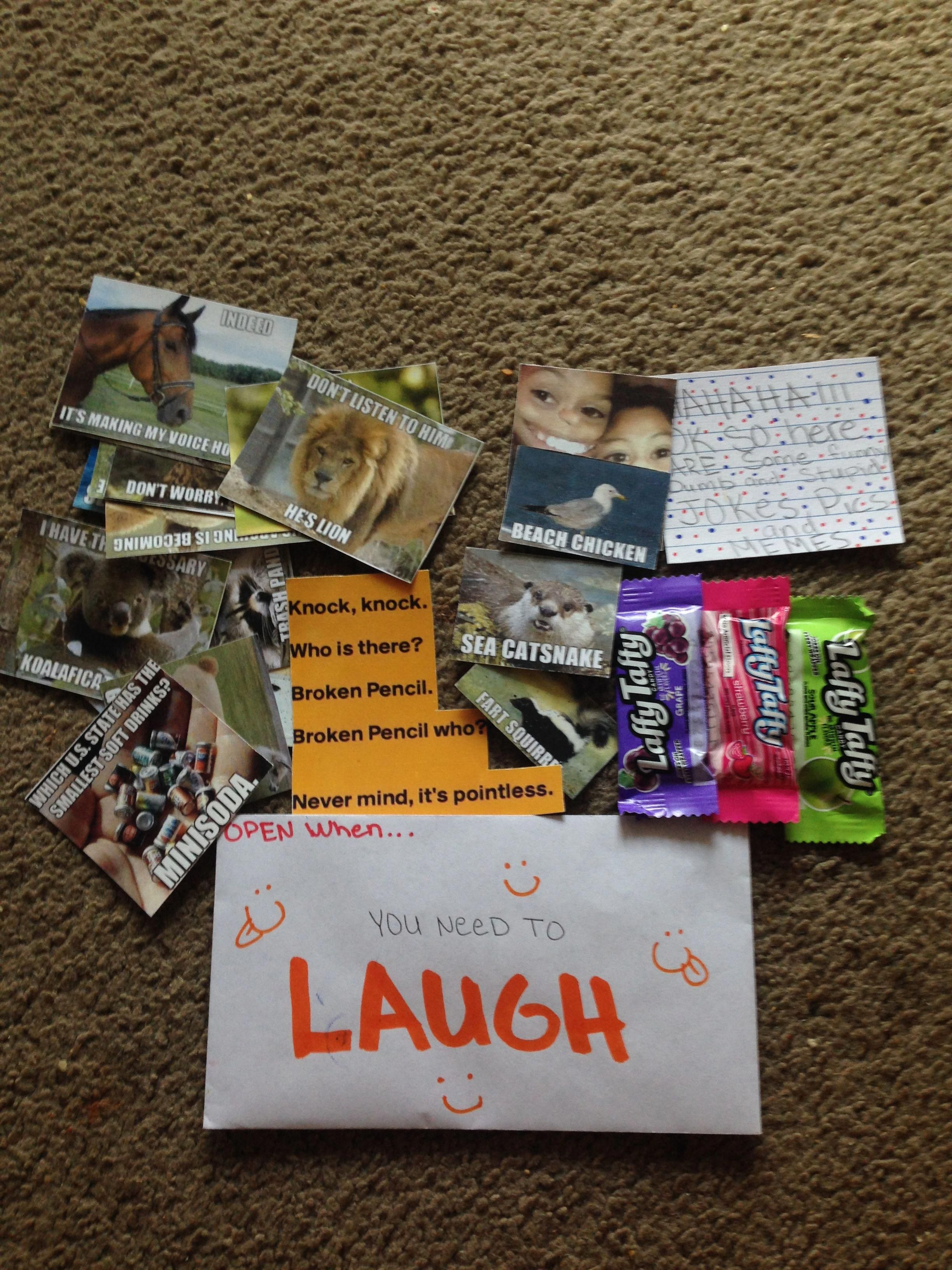 Open When You Need A Laugh Boyfriendgiftsforhim With Images