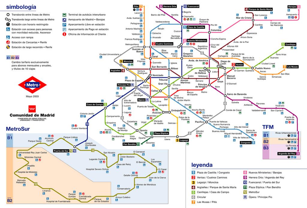 Mapa Metro De Madrid.Plano Del Metro De Madrid Mapas Y Esquemas Mapa Del