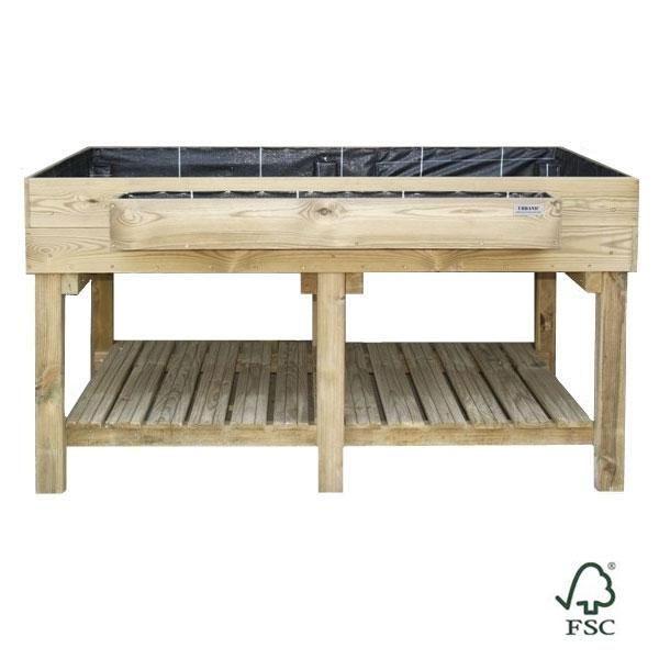 Mesa de cultivo de madera para huerto urbano Ecoexpert | Mesa de ...