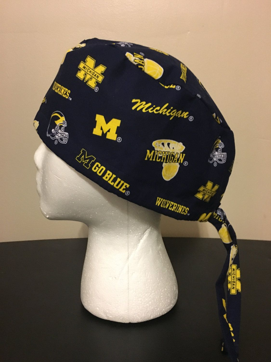 797bbd50190 ... germany university of michigan logos on blue surgery cap scrub hat  scrub caps by quiltsbyhayley on