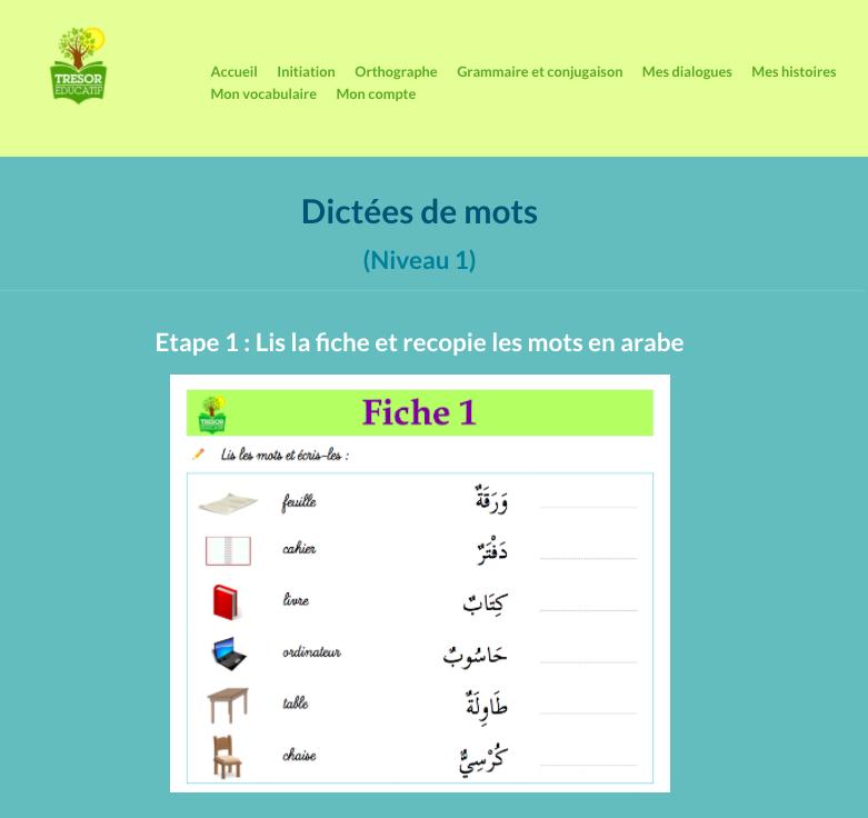 Formation Dictees De Mots Niveau 1 Orthographe Grammaire Mots Dictee