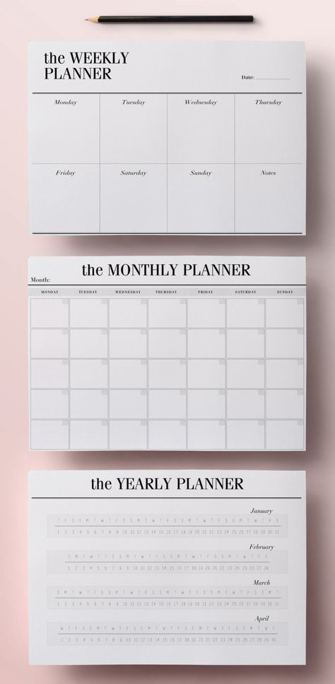 Get organized in style with this modern Printable Planner This