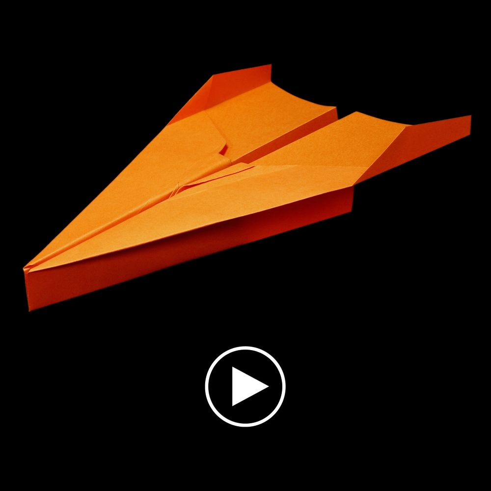 How to make a paper airplane that flies far - easy origami folding instructions in this video. Follow me for more cool paper airplanes.