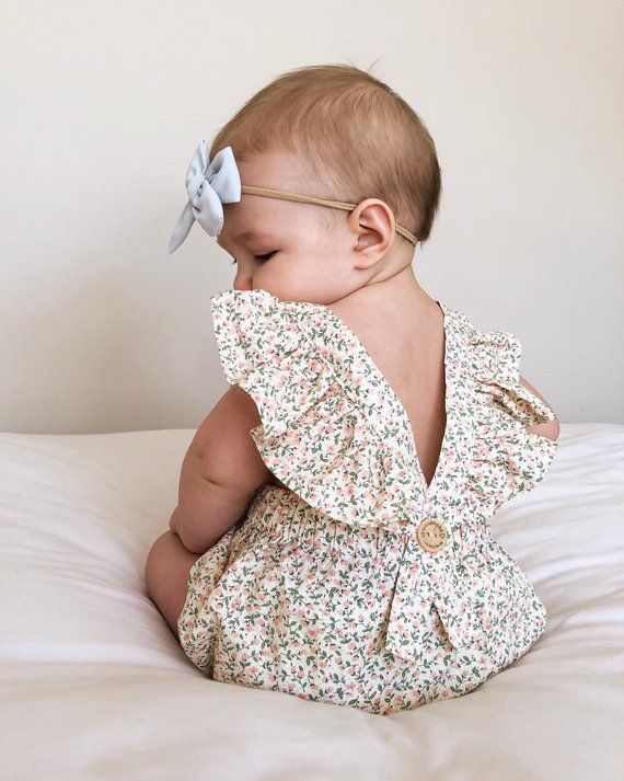 Photo of Baby Girl Floral Romper- Cream Floral Romper Toddler – 1st B…