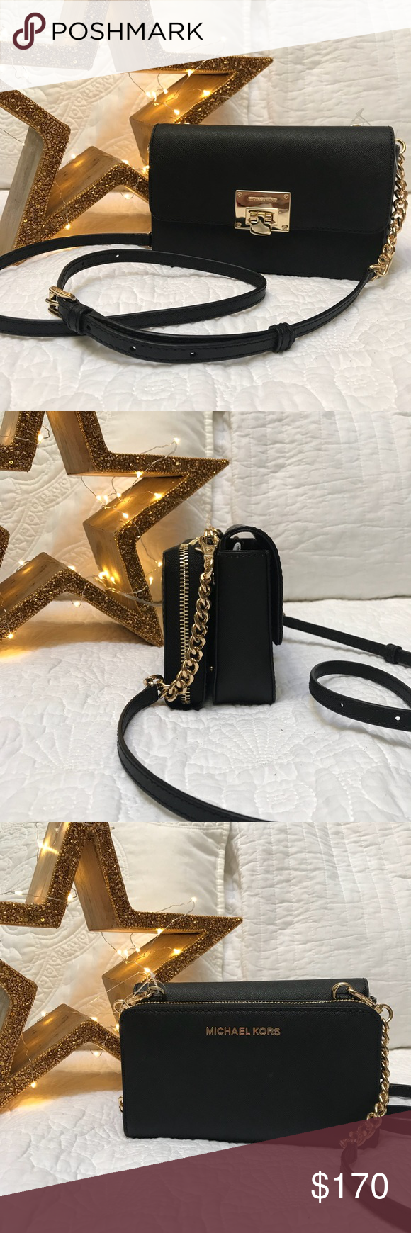 cdcf781bec95 Michael Kors Tina 2 in 1 Wallet Clutch Crossbody New✨With tags✨ Strap  Drop22in. MaterialLeather StyleCrossbody Modification DescriptionMICHAEL  Michael ...