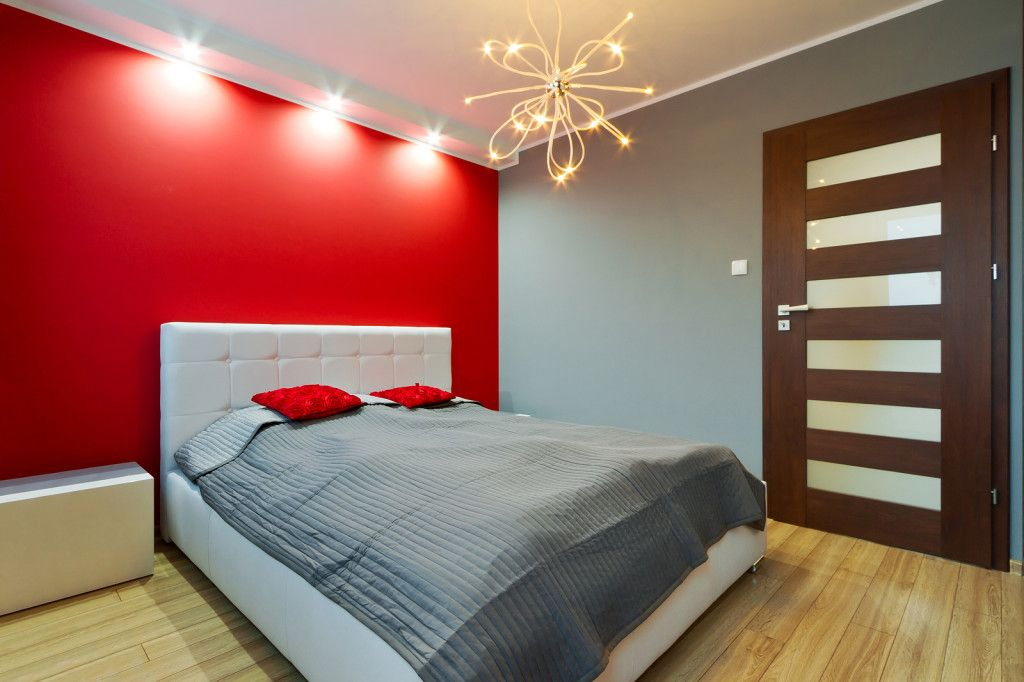 Beautiful Bedroom Ideas With Red Walls Part - 5: Red-Wall-Bedroom-Design-Idea-1024x682.jpg (1024×