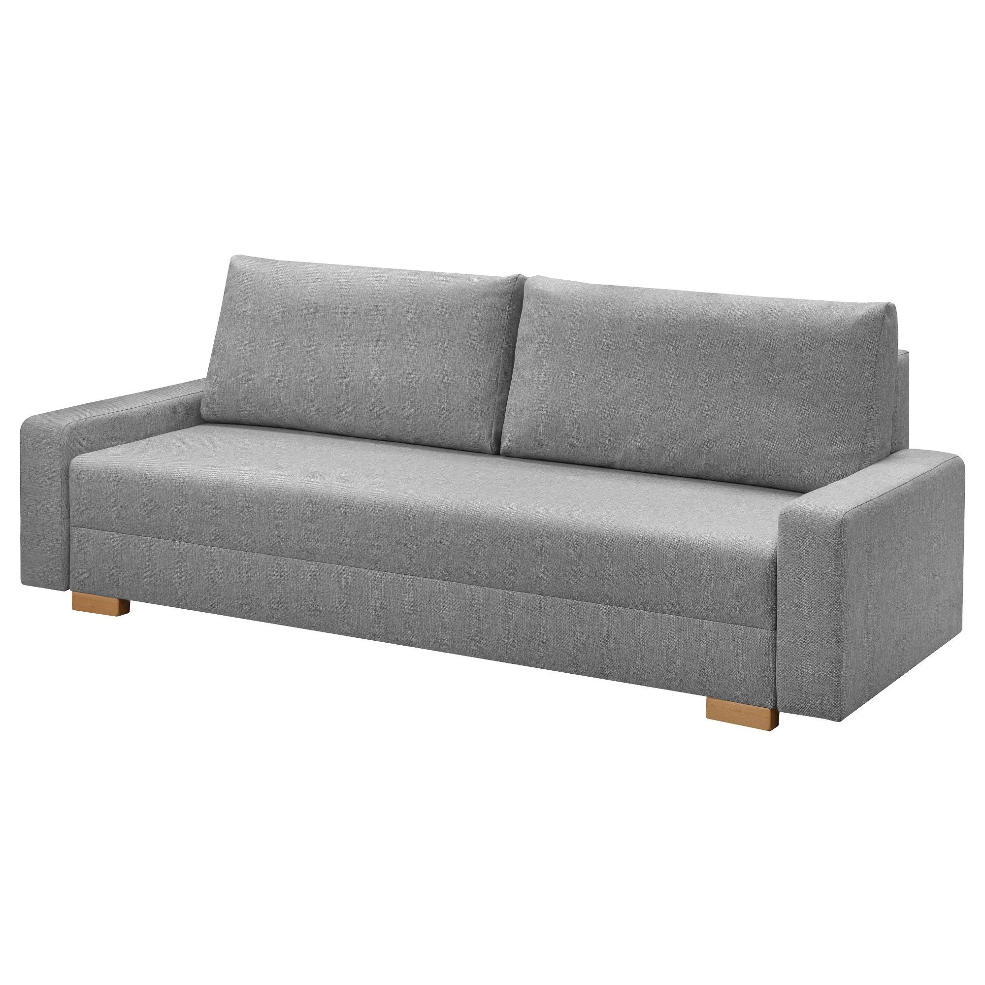 Gralviken Rozkladana Sofa 3 Osobowa Szary Kupuj Dzisiaj Ikea Bettsofa Sofa Bett Sofa