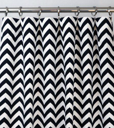 Funky Black and White Chevron Shower Curtain  blackandwhitechevronshowercurtainglam