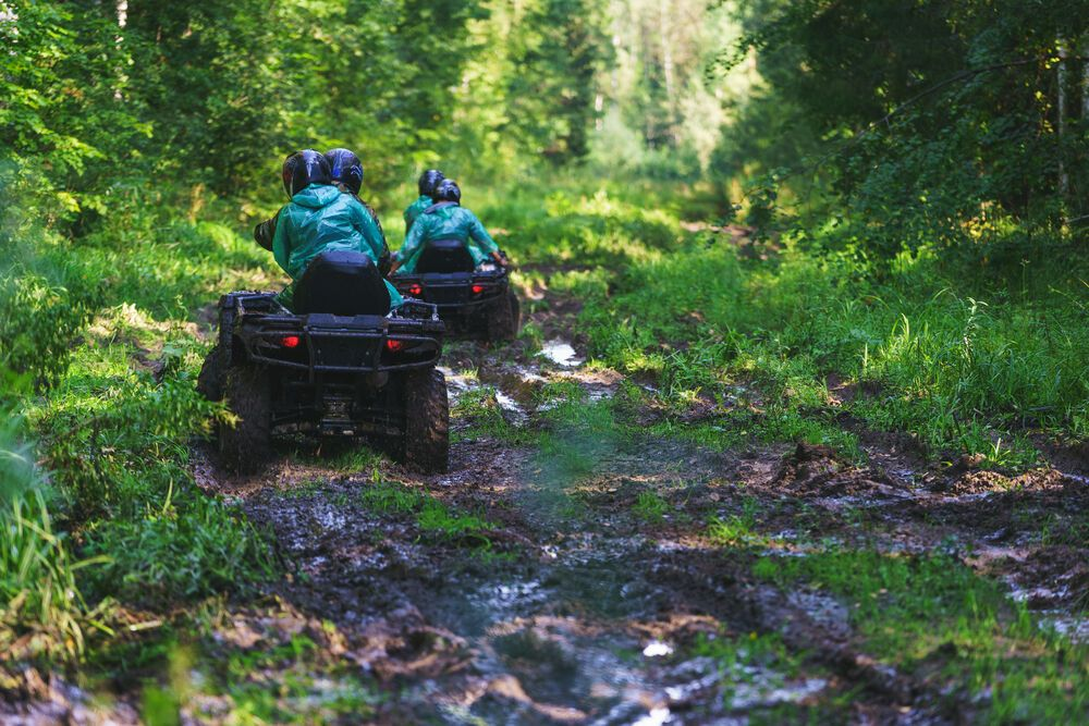 Bluff mountain adventures offers guided atv trail rides on