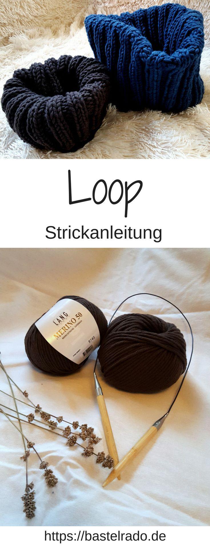 Der Herbst kommt! Stricke dir nen Loop - Anleitung #strickenundhäkeln
