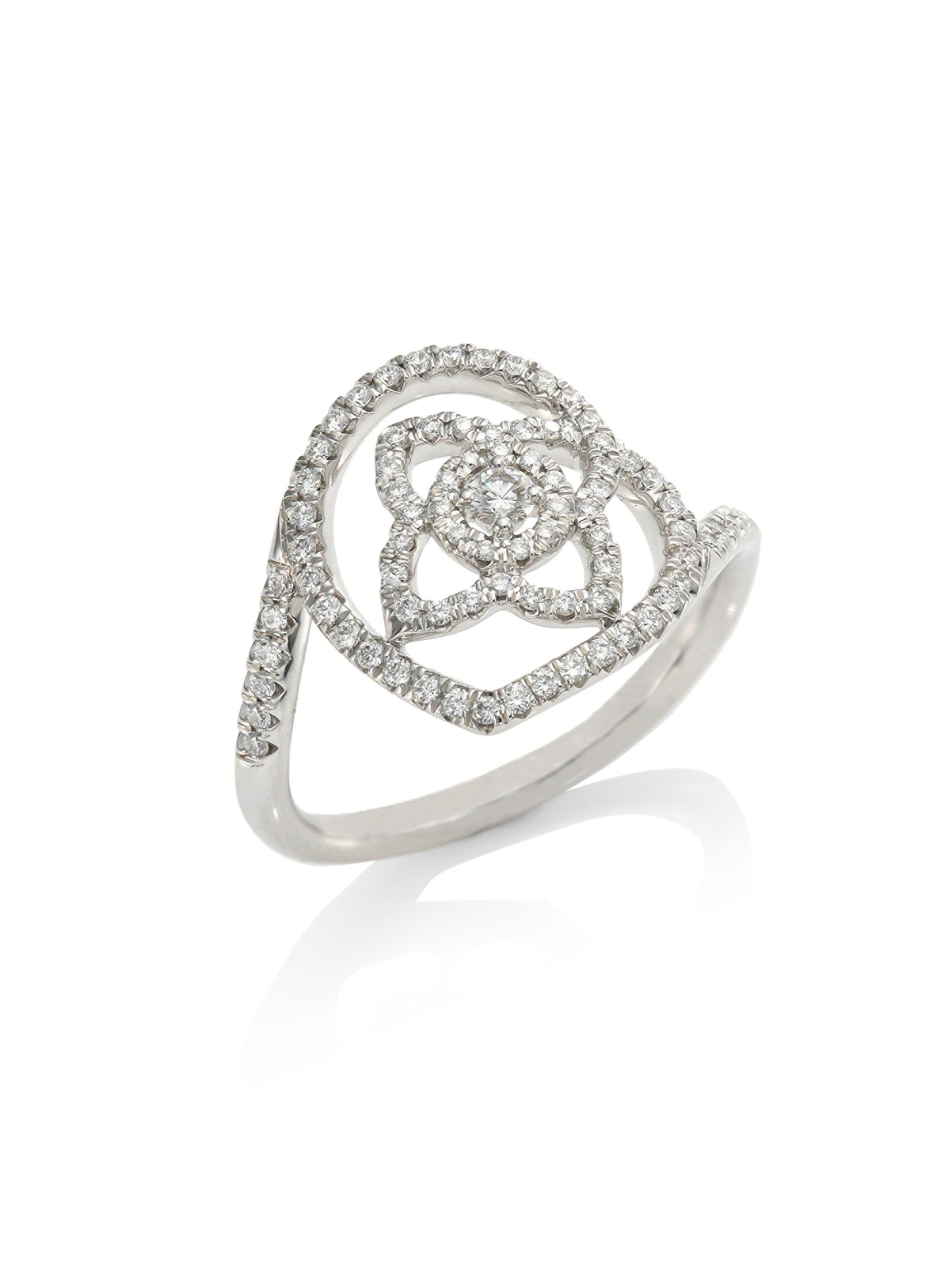 De beers enchanted lotus diamond ring white gold products