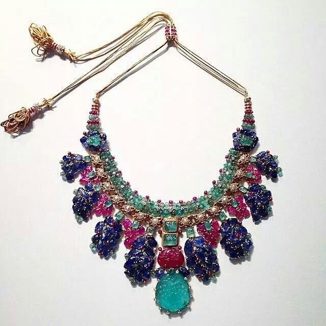 Cartier 'Tutti Frutti' Necklace, C.1938, Set With Carved