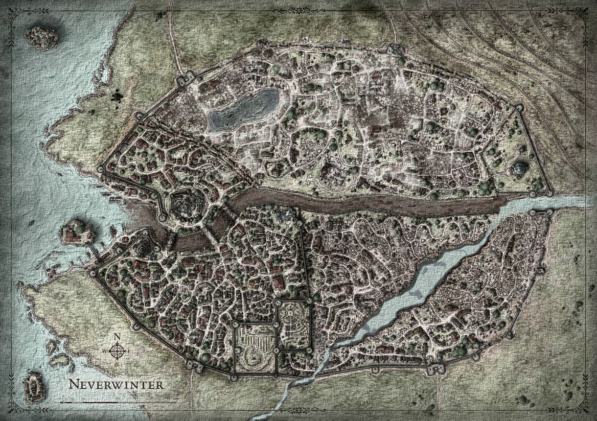 5e my map of neverwinter original done by mike schley imgur