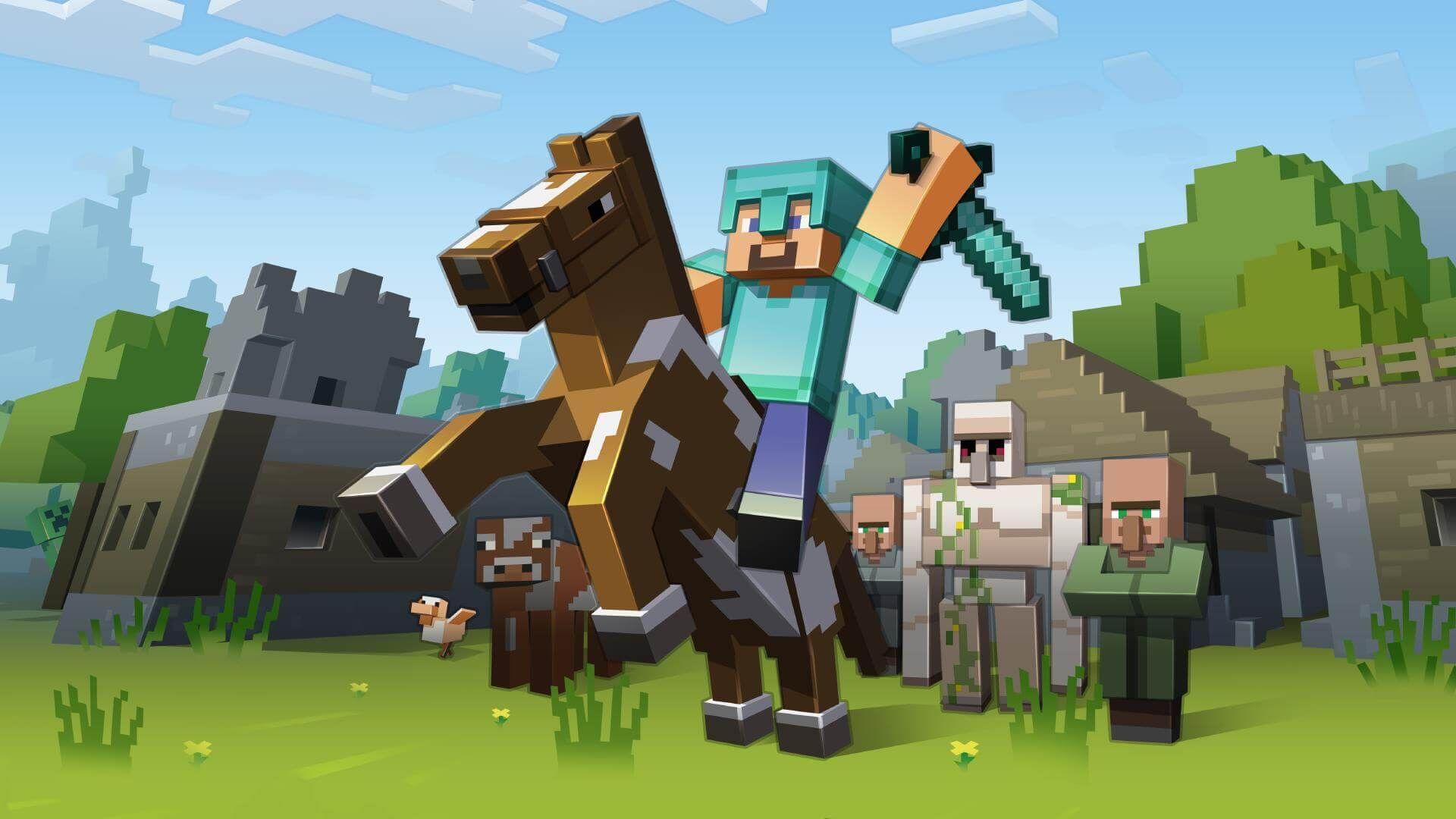 Minecraft Wallpaper Mobs Desktop Background NNPEi