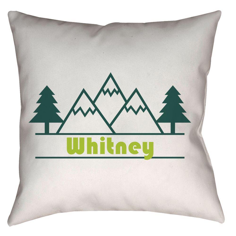 Whitney, California Mountain & Trees - Throw Pillow