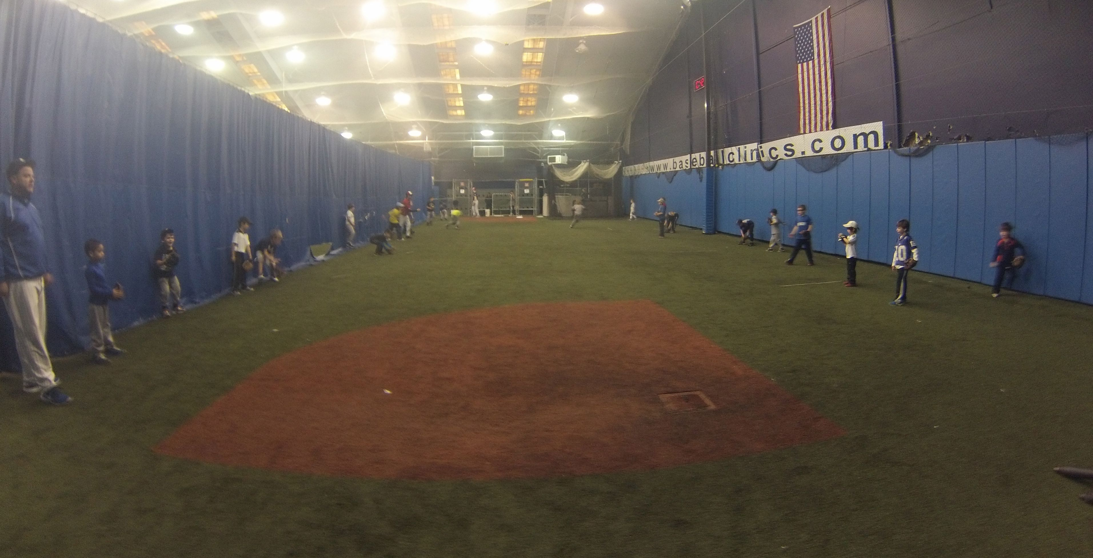 Coach Bobby Lineburg and Coach Jay Hardenberg working with the 6, 7, and 8 year olds on their groundball fundamentals.