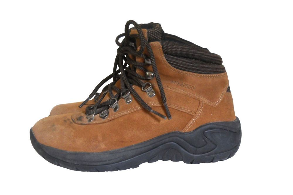 1072bb08682c Earth Shoe Hiking Boots Women 8.5 Casa Brown Leather Outdoor Trail  Earth   HikingTrail