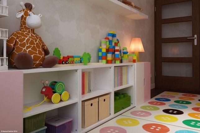 Amenajare Camera Montessori : Model de amenajare pentru o camera de fetita inspiratie in