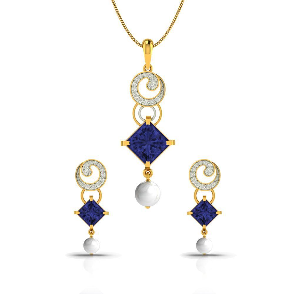 Jagvi bedazzle diamond gold pendant cjspsy good designs