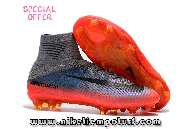 Nike Kids Soccer Shoes Mercurial Superfly Cr7 Orange Grey Black Kids Soccer Shoes Nike Football Boots Cool Football Boots