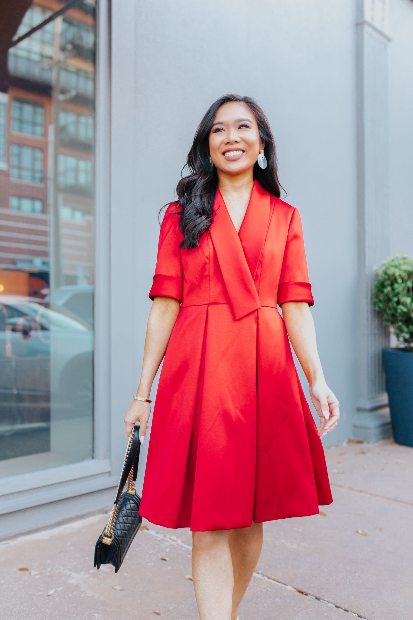 Four Ways to To Be More Confident - Color & Chic  Red dress