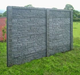 Ordinaire Decorative Garden Fence Panels With Natural Stone Are The Modern Trend For  Gardens. Variations In