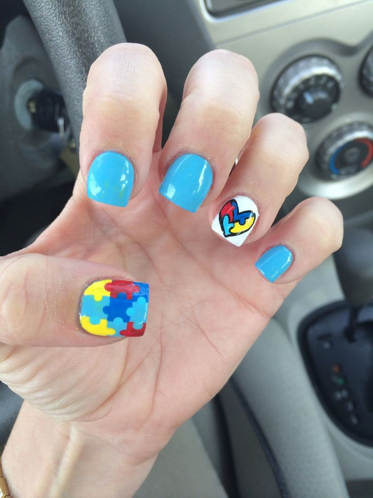 Autism Awareness Nails Google Search Nail Ideas In 2018 Pinterest Art And