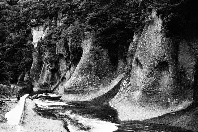 Alien Rock by spiraldelight, via Flickr  #bw #nature #rocks #forms